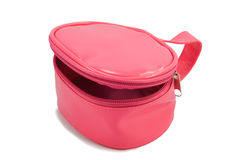 Opened pink kids bag Royalty Free Stock Image