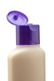 Opened plastic bottle with soap or shampoo Royalty Free Stock Photography