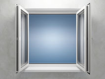 Opened plastic window Royalty Free Stock Photography