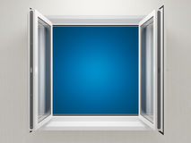 Opened plastic window Royalty Free Stock Photos