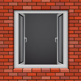 Opened plastic window Royalty Free Stock Images