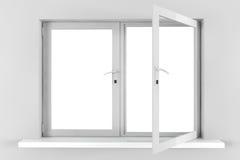 Opened plastic window Royalty Free Stock Photo