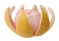 Opened pomelo Stock Photography