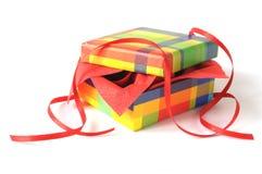 Opened present Stock Photo