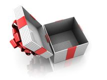 Opened present box Stock Images