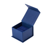 Opened present box for jewerly on white background Stock Images