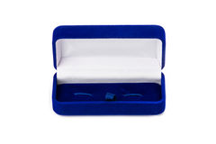 Opened present box for jewerly on white background Stock Image
