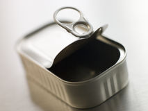 Opened Pull Ring Can Royalty Free Stock Photography