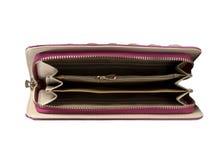 Opened purse Stock Photos