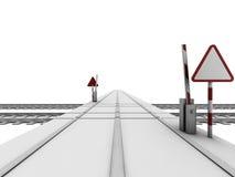 Opened railway crossroad Stock Image