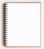 Opened recycle note book on white background Royalty Free Stock Photography