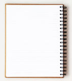 Opened recycle note book on white background Royalty Free Stock Images