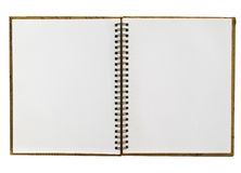 Opened recycle notebook Royalty Free Stock Images