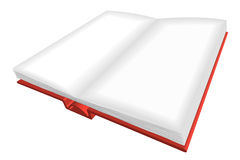 Opened red book with empty lists Royalty Free Stock Image