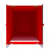 Opened red cargo container Stock Photos