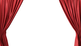 Opened red curtain Stock Photography