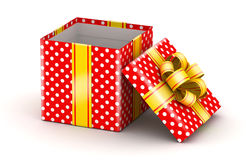 Opened red gift box Royalty Free Stock Photography