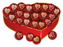 Opened red heart shaped gift box Royalty Free Stock Photo