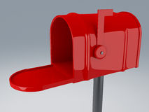 Opened red mail box Stock Images