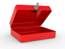Opened red metal box Royalty Free Stock Images