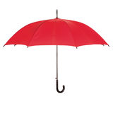 Opened red umbrella over white Stock Image