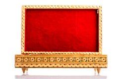 Opened red velvet box Stock Image