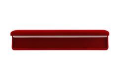 Opened red velvet gift box Royalty Free Stock Images