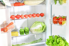 Opened refrigerator Royalty Free Stock Image