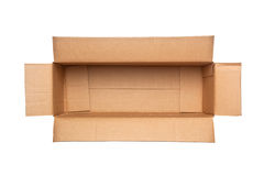 Opened retangular cardboard box Royalty Free Stock Photography
