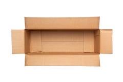 Opened retangular cardboard box Royalty Free Stock Photography