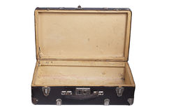 Opened retro suitcase Stock Images