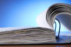 Opened file folder Stock Photo