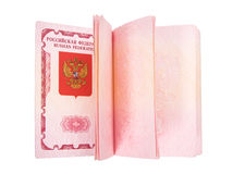 Opened Russian passport Stock Images