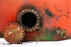 Opened rusty manhole Stock Photos