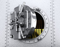 Opened safe deposit vault Stock Photo