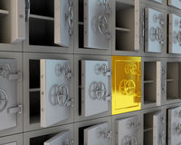 Opened safes Royalty Free Stock Images