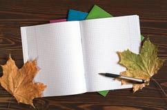 Opened school notebook Stock Photography