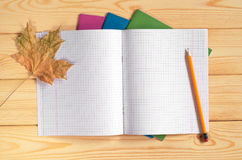 Opened school notebook Royalty Free Stock Photos