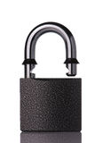 Opened secure padlock Stock Images