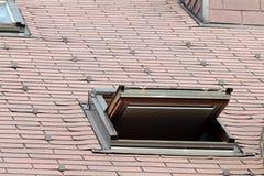Opened skylight window Stock Photos