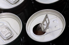 Opened soft drink can Stock Photo