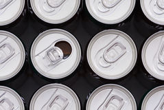 Opened soft drink cans Stock Photo