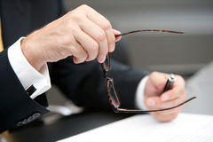 Opened spectacles Royalty Free Stock Photo