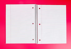 Opened Spiral Notebook Royalty Free Stock Image