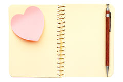 Opened spiral notebook Royalty Free Stock Images