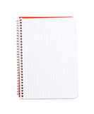 Opened squared notebook isolated Royalty Free Stock Image