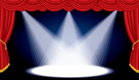 Open stage wide spot Stock Photo