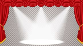 Trans stage wide spot Royalty Free Stock Photos