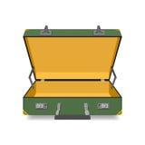 Opened Suitcase isolated stock illustration