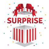 Opened surprise gift box Royalty Free Stock Photo